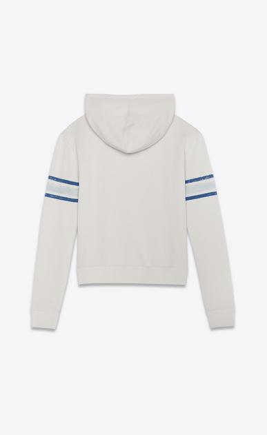 SAINT LAURENT Sportswear Tops Man Hooded sweatshirt with 1971 Saint Laurent in ecru b_V4