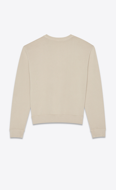 SAINT LAURENT Sportswear Tops Man Sweatshirt with snake heart print in beige b_V4