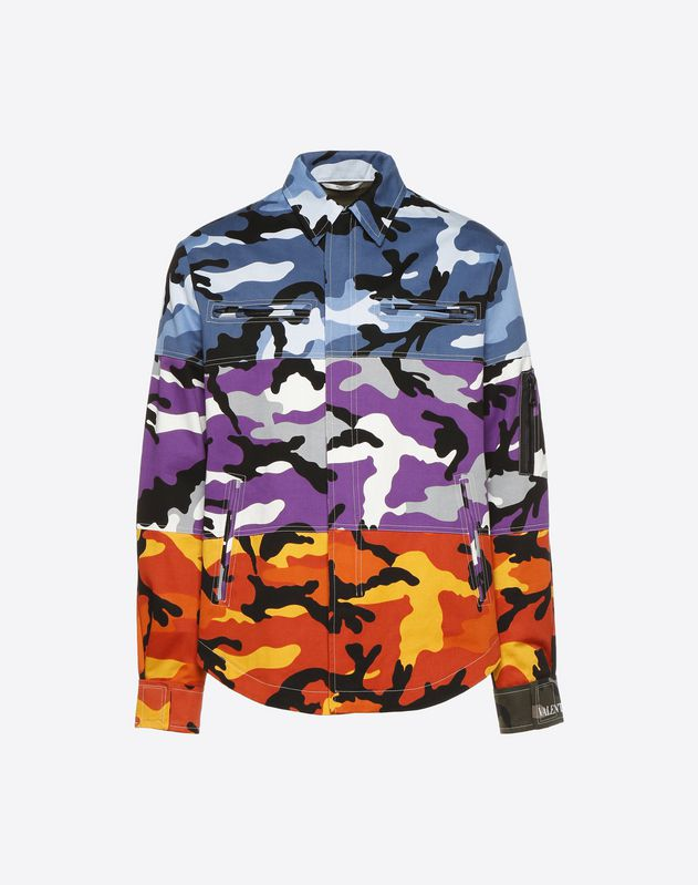 Outerwear-Shirt mit Camou Shuffle