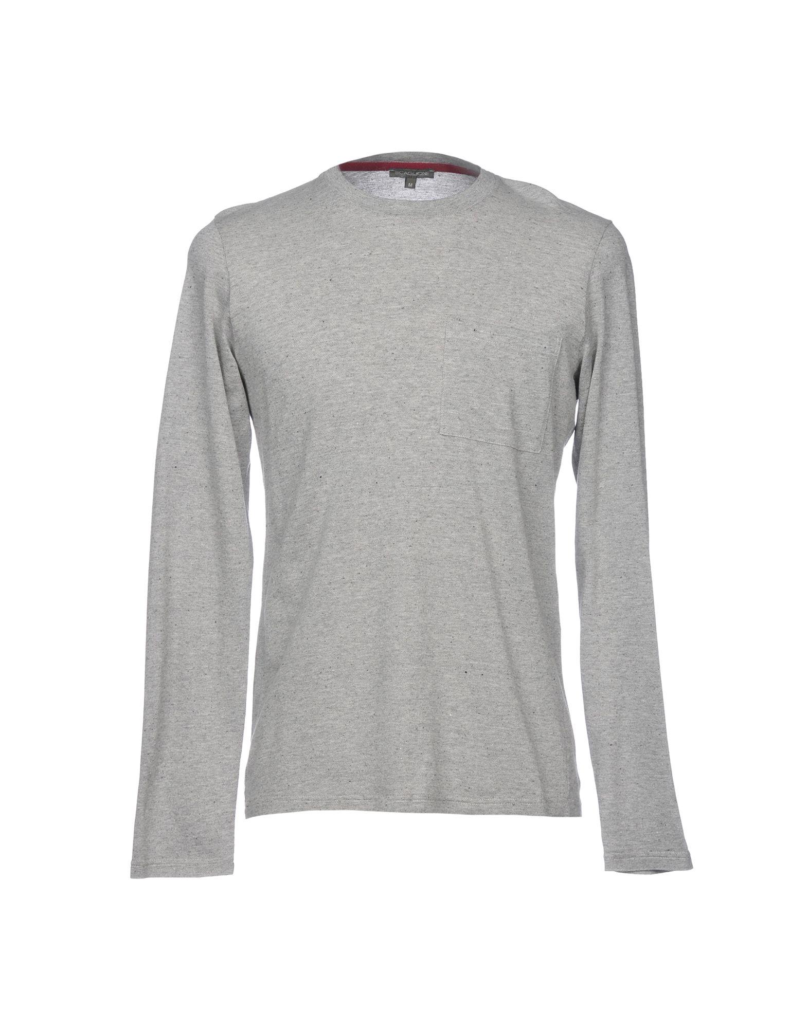 《送料無料》SCAGLIONE メンズ T シャツ ライトグレー M コットン 100%