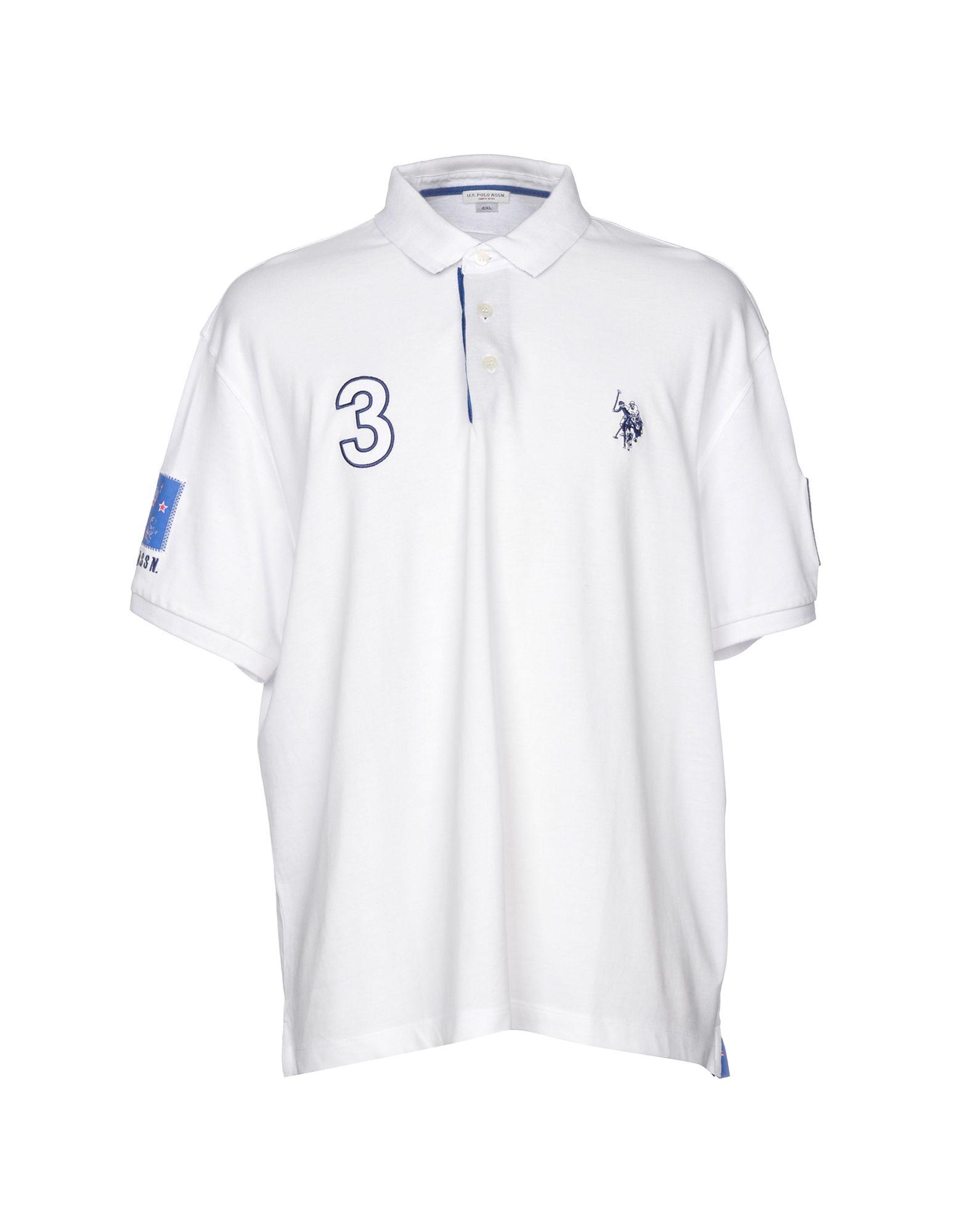 《送料無料》U.S.POLO ASSN. メンズ ポロシャツ ホワイト 4XL 100% コットン