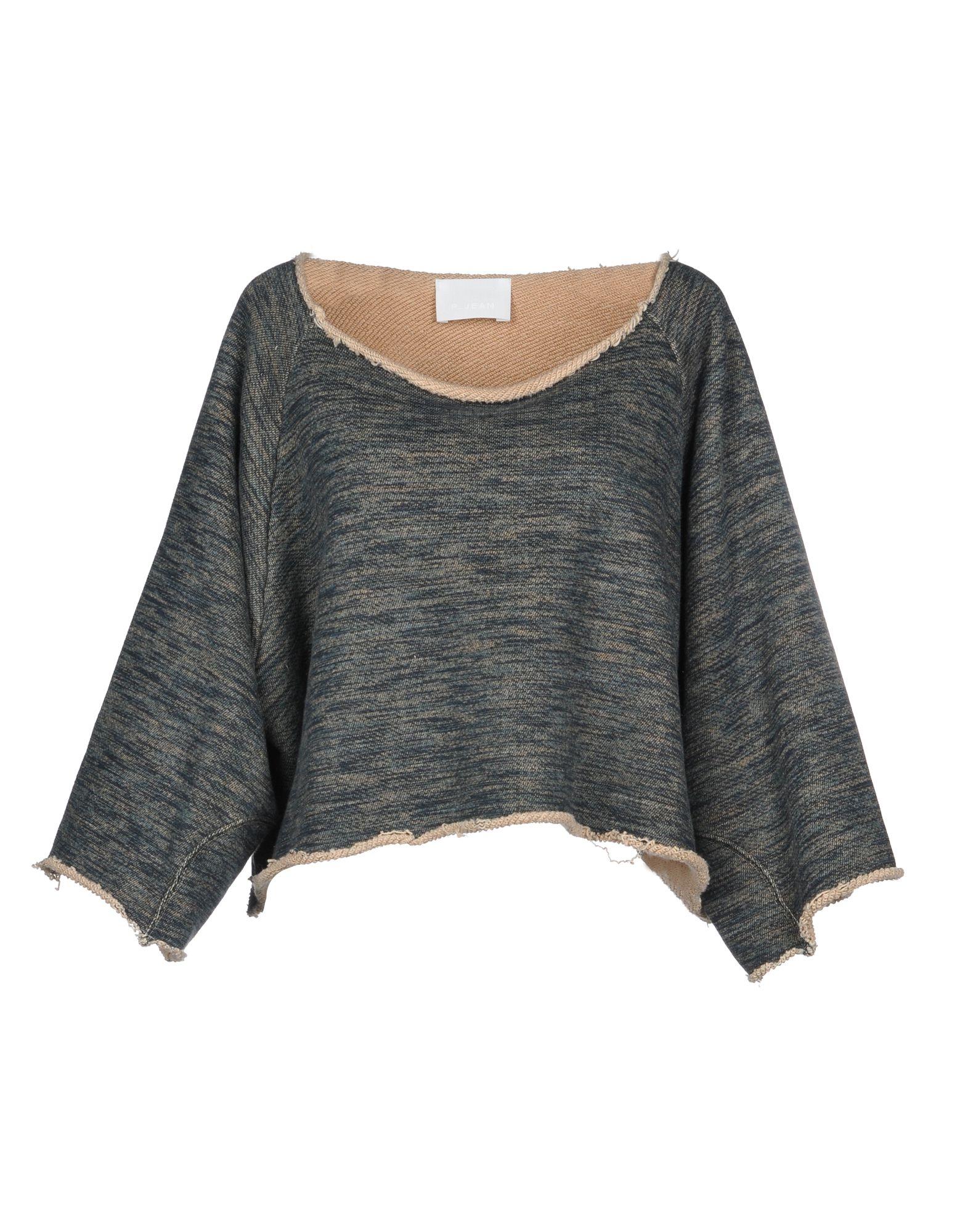 《送料無料》P_JEAN レディース スウェットシャツ ブルーグレー XS コットン 100%