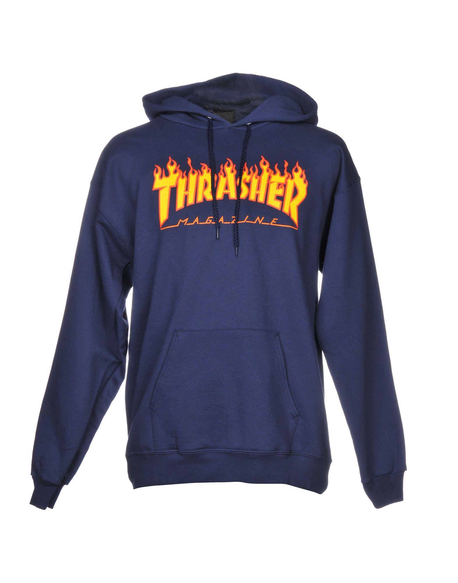 THRASHER Hooded Sweatshirt in Dark Blue
