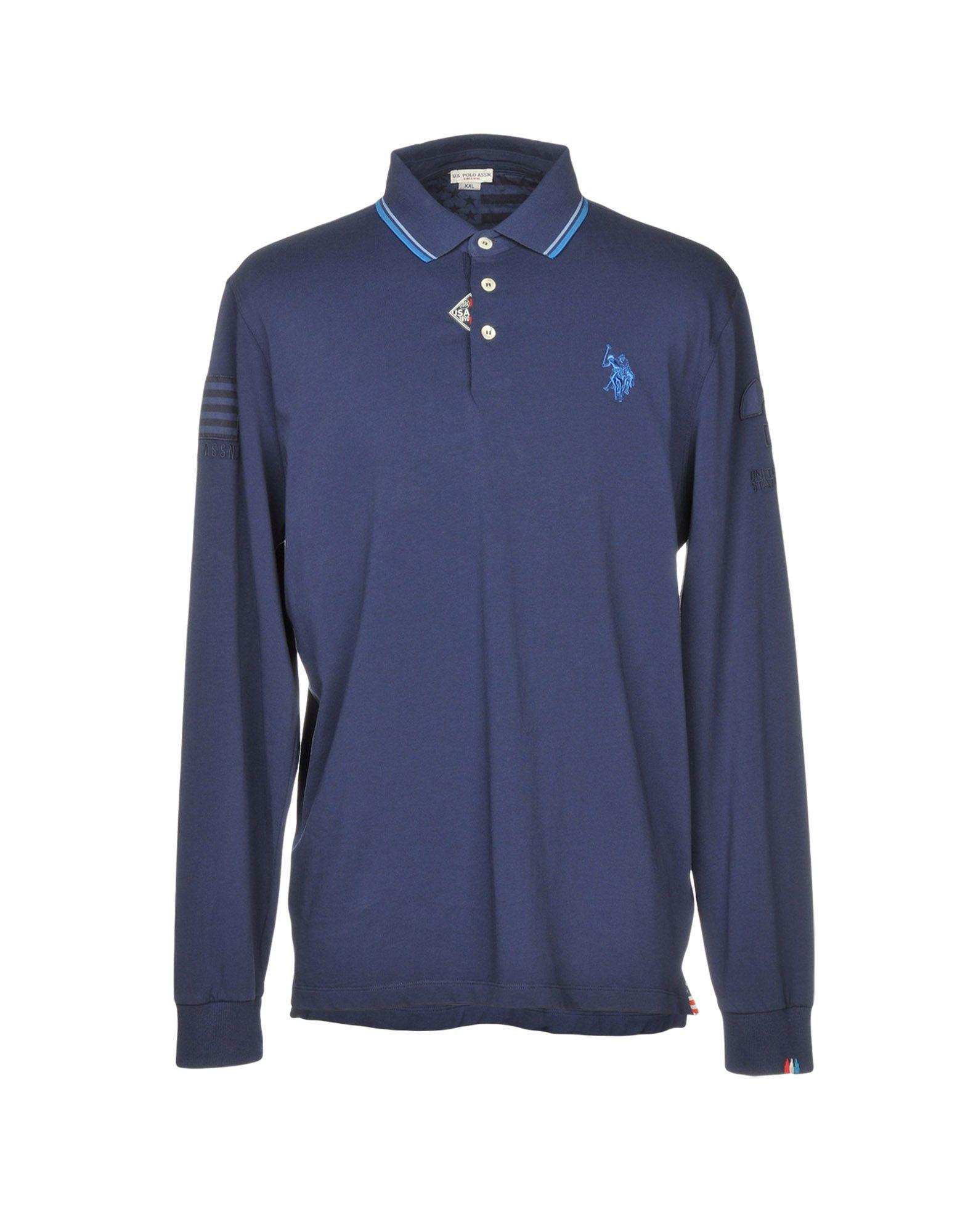 《送料無料》U.S.POLO ASSN. メンズ ポロシャツ ブルー XXL コットン 100%