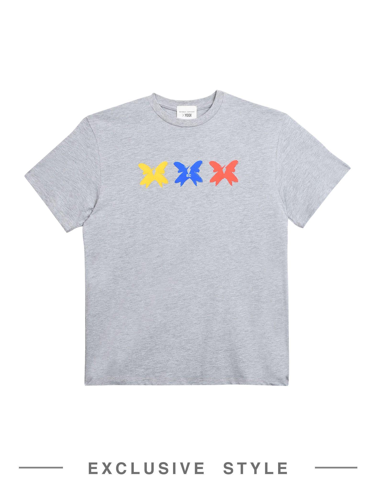 《セール開催中》ESTEBAN CORTAZAR x YOOX Unisex T シャツ ライトグレー XS コットン 100%