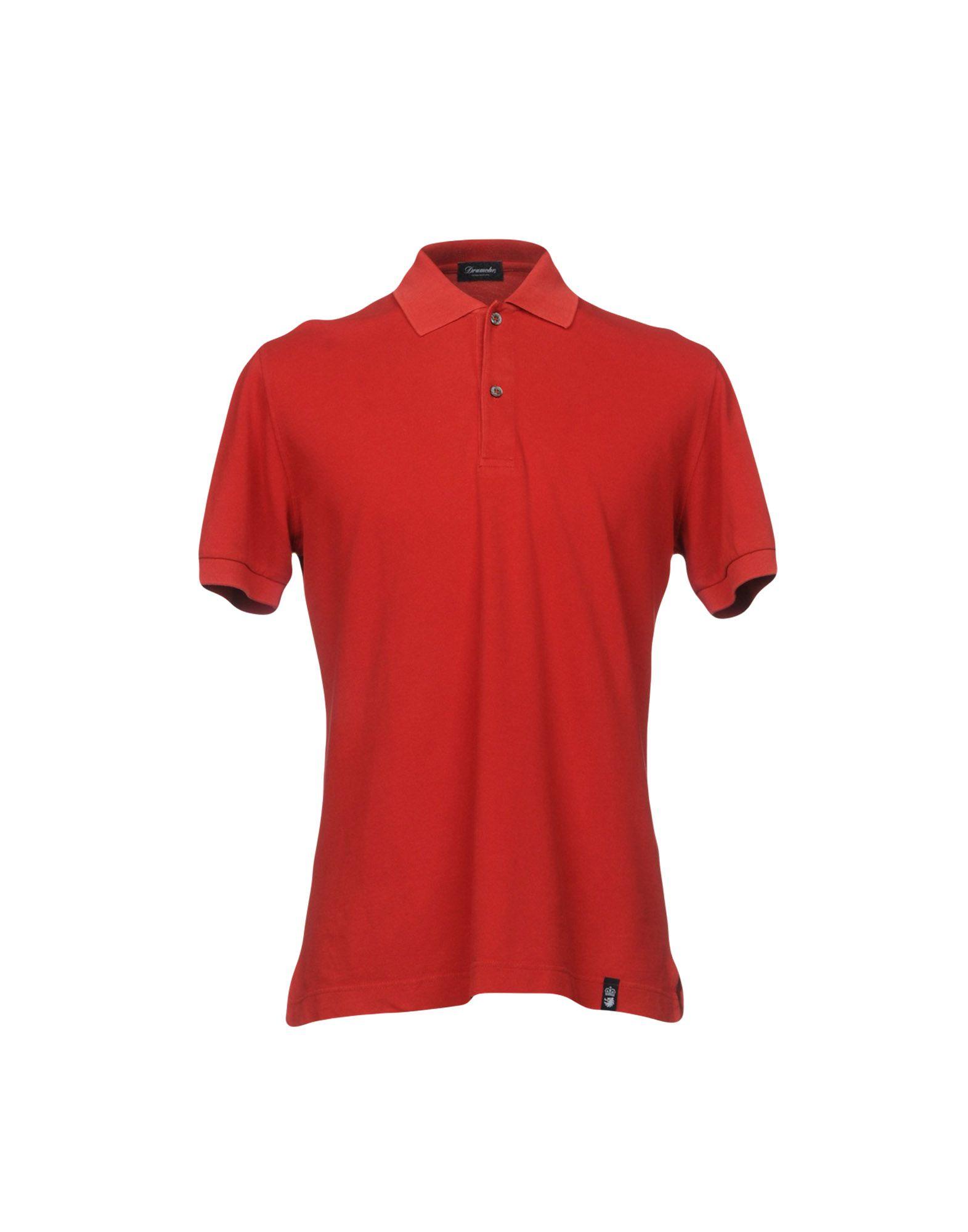 《送料無料》DRUMOHR メンズ ポロシャツ レッド XS コットン 100%