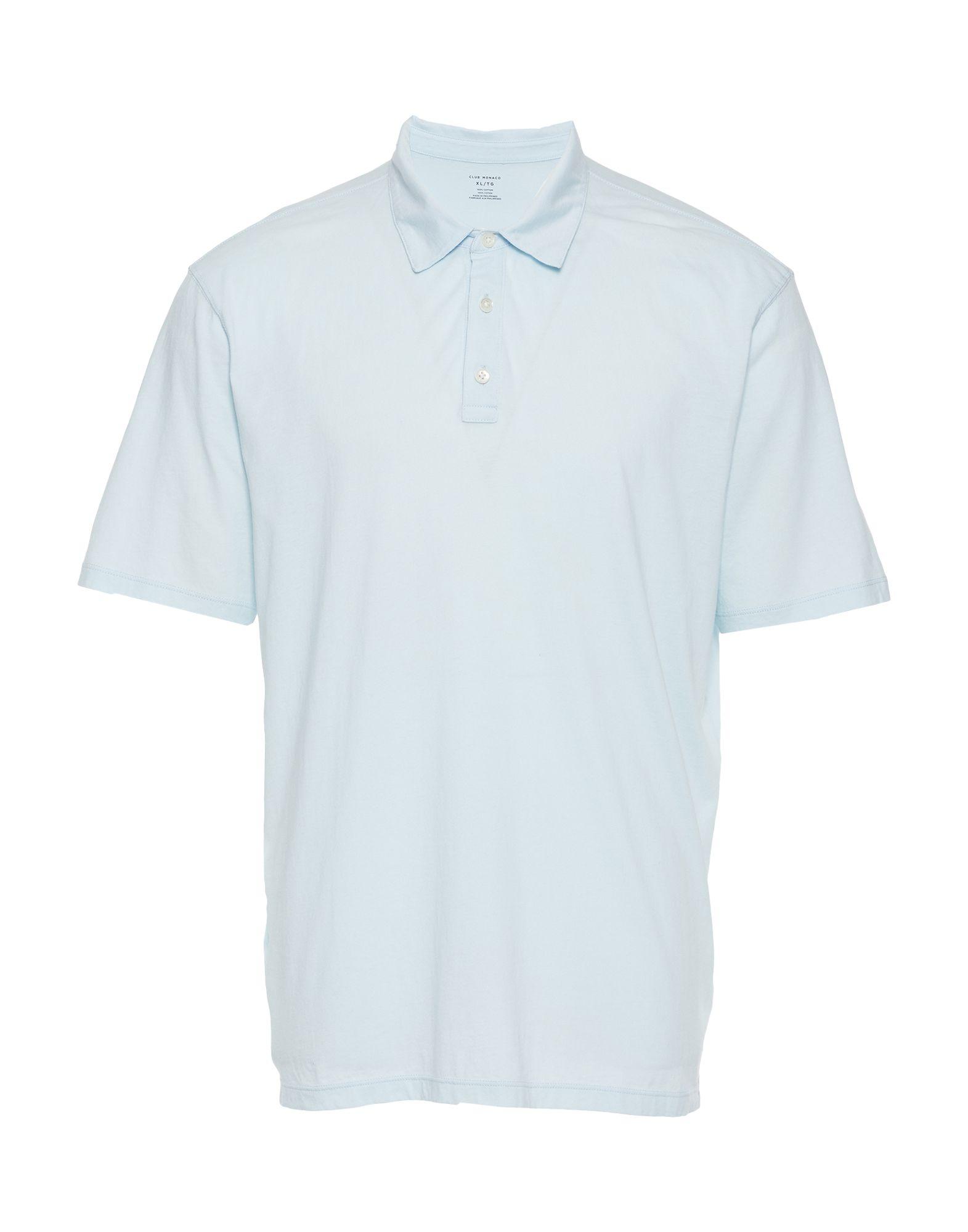 CLUB MONACO Polo shirts. no appliqués, basic solid color, short sleeves, polo collar. 100% Cotton