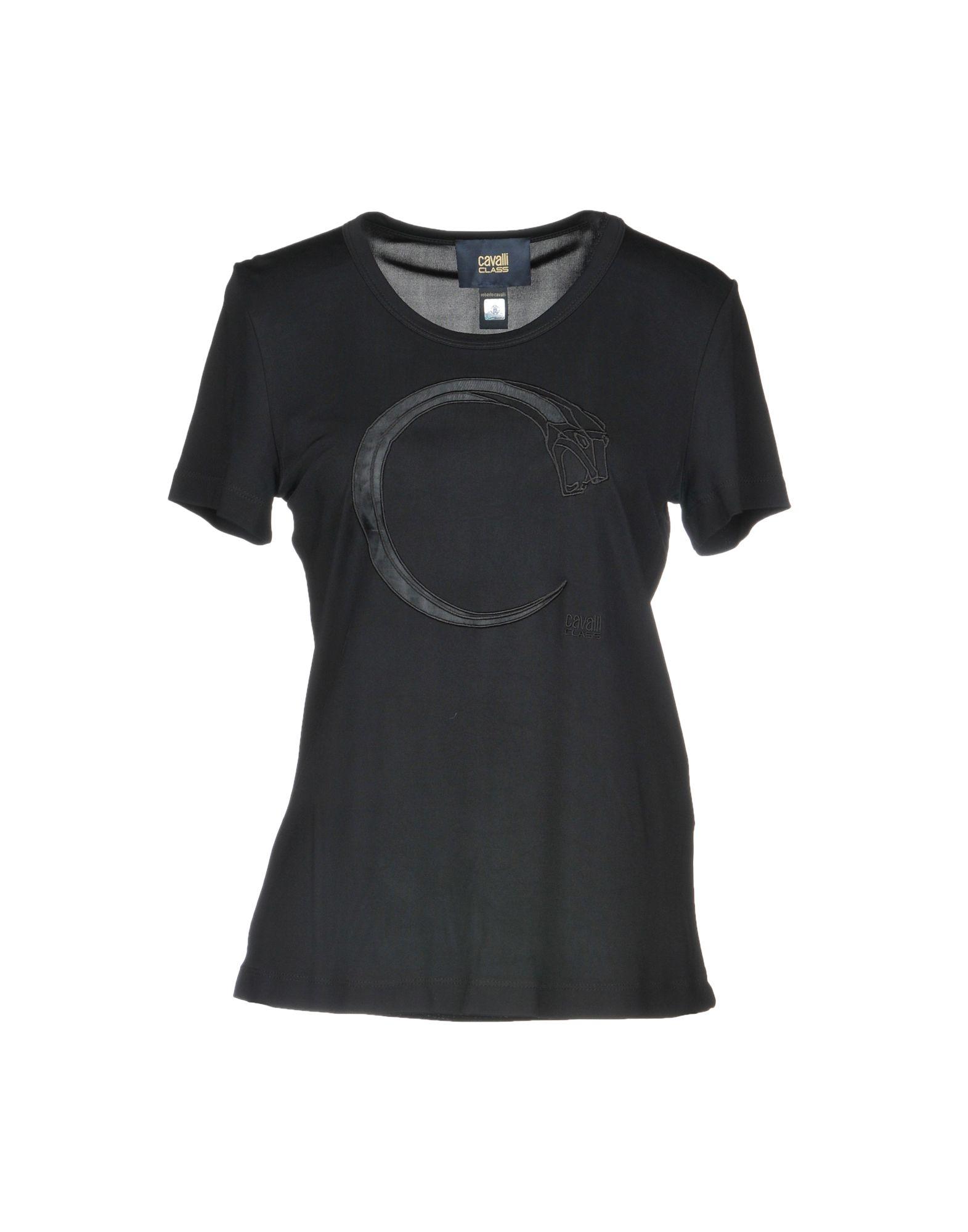 《期間限定セール中》CAVALLI CLASS レディース T シャツ ブラック L レーヨン 100% / ポリエステル