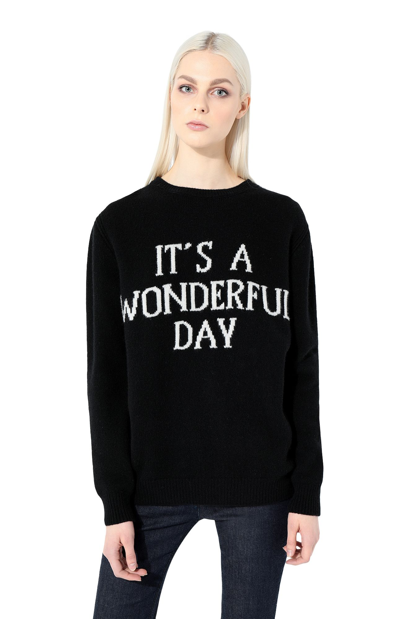 ALBERTA FERRETTI T-shirt Woman T-shirt printed with It's A Wonderful Day r