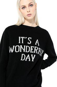 ALBERTA FERRETTI Sweater with It's A Wonderful Day intarsia KNITWEAR Woman a
