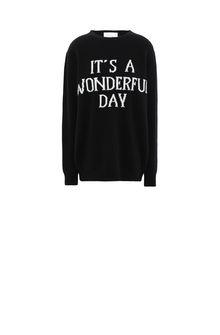 ALBERTA FERRETTI Sweater with It's A Wonderful Day intarsia KNITWEAR Woman e