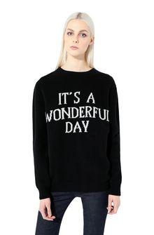 ALBERTA FERRETTI Sweater with It's A Wonderful Day intarsia KNITWEAR Woman r