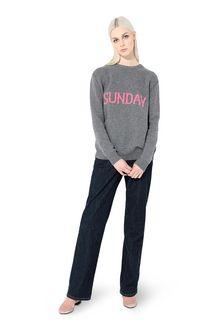 ALBERTA FERRETTI KNITWEAR Woman Rainbow Week sweater with Sunday intarsia f