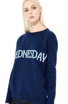 ALBERTA FERRETTI Rainbow Week sweater with Wednesday intarsia KNITWEAR Woman a