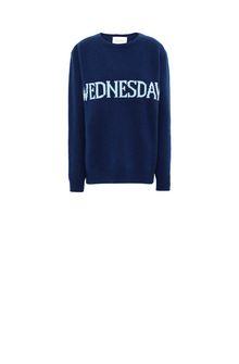ALBERTA FERRETTI Rainbow Week sweater with Wednesday intarsia KNITWEAR Woman e