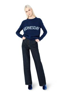 ALBERTA FERRETTI Rainbow Week sweater with Wednesday intarsia KNITWEAR Woman f