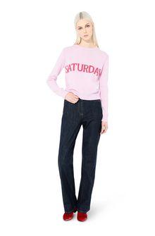 ALBERTA FERRETTI KNITWEAR Woman Rainbow Week sweater with Saturday intarsia f