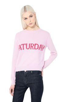 ALBERTA FERRETTI Rainbow Week sweater with Saturday intarsia KNITWEAR Woman r
