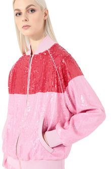 ALBERTA FERRETTI Bomber jacket with sequins Jacket Woman a
