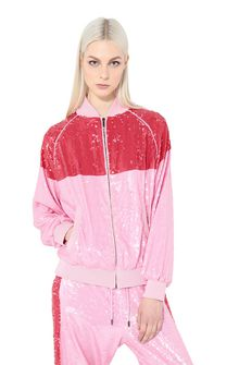 ALBERTA FERRETTI Bomber jacket with sequins Jacket Woman r