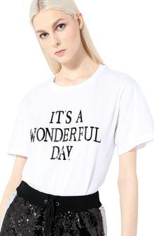 ALBERTA FERRETTI T-shirt printed with It's A Wonderful Day T-shirt Woman a