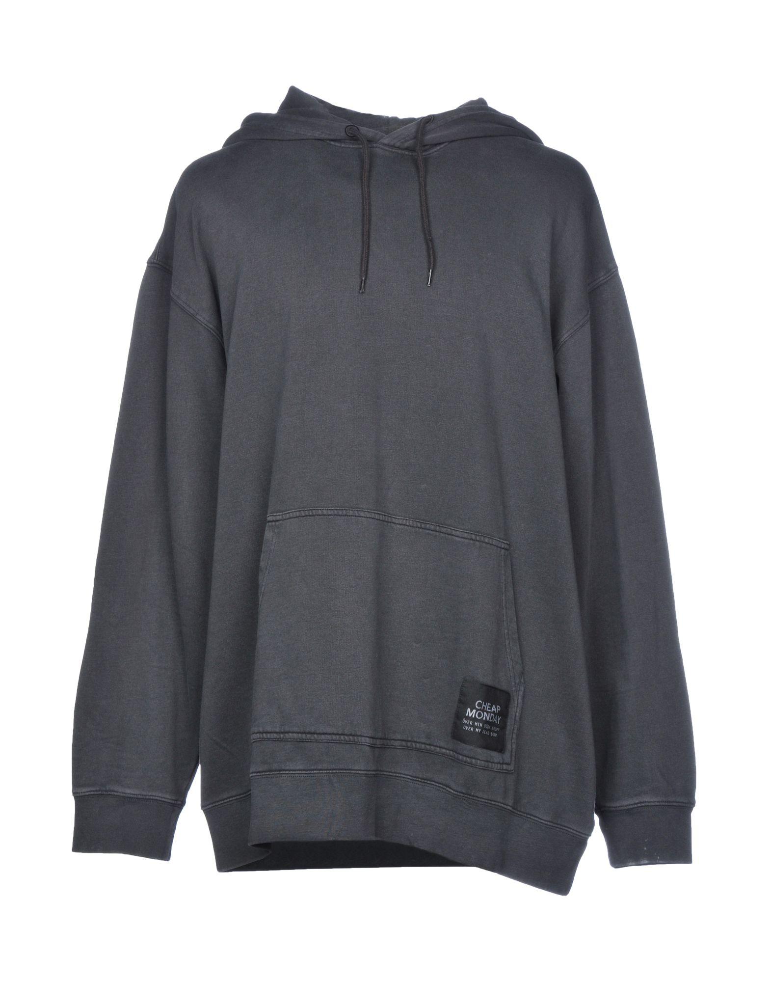 《送料無料》CHEAP MONDAY メンズ スウェットシャツ スチールグレー XS コットン 100%
