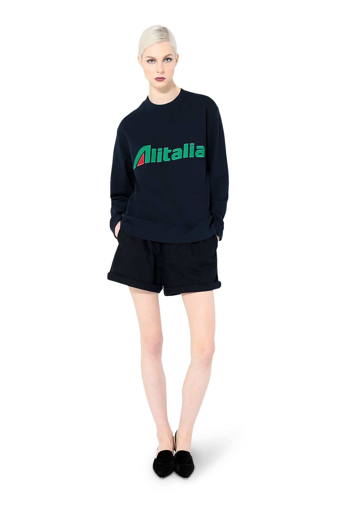 Sweatshirt embroidered with Alitalia logo