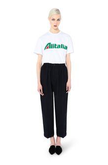 ALBERTA FERRETTI T-shirt ricamata con logo Alitalia T-shirt Donna f