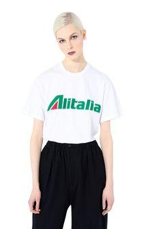 ALBERTA FERRETTI T-shirt ricamata con logo Alitalia T-shirt Donna r