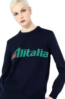 ALBERTA FERRETTI Maglione no season con logo Alitalia MAGLIERIA Donna a