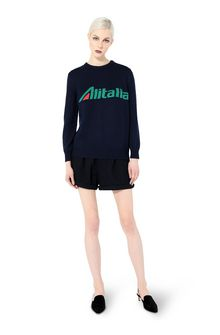 ALBERTA FERRETTI No season sweater with Alitalia logo KNITWEAR Woman f