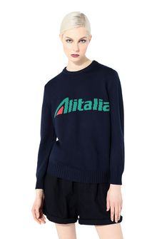 ALBERTA FERRETTI No season sweater with Alitalia logo KNITWEAR Woman r