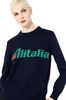 ALBERTA FERRETTI No season sweater with Alitalia logo KNITWEAR Woman a