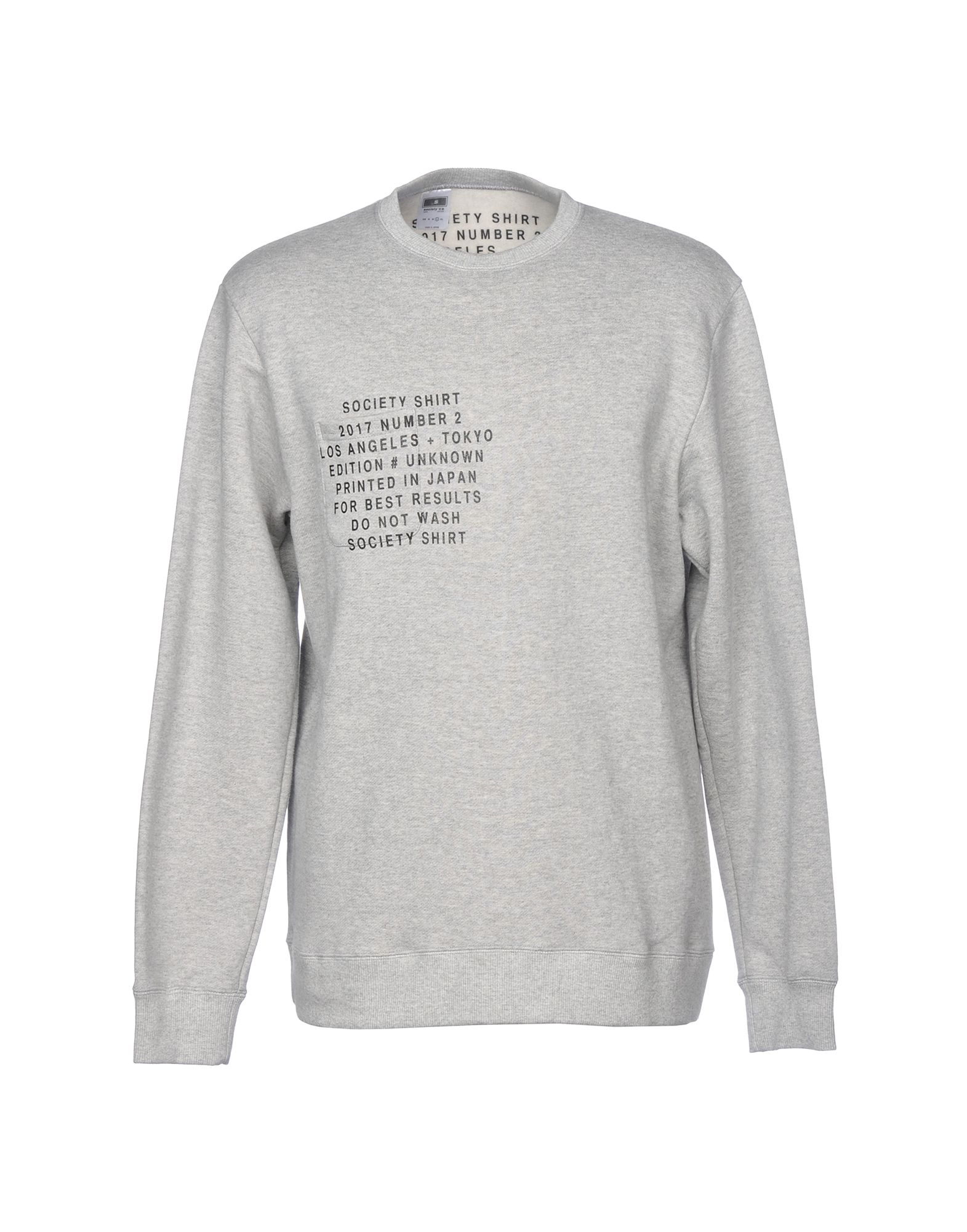 SOCIETY Sweatshirt in Light Grey
