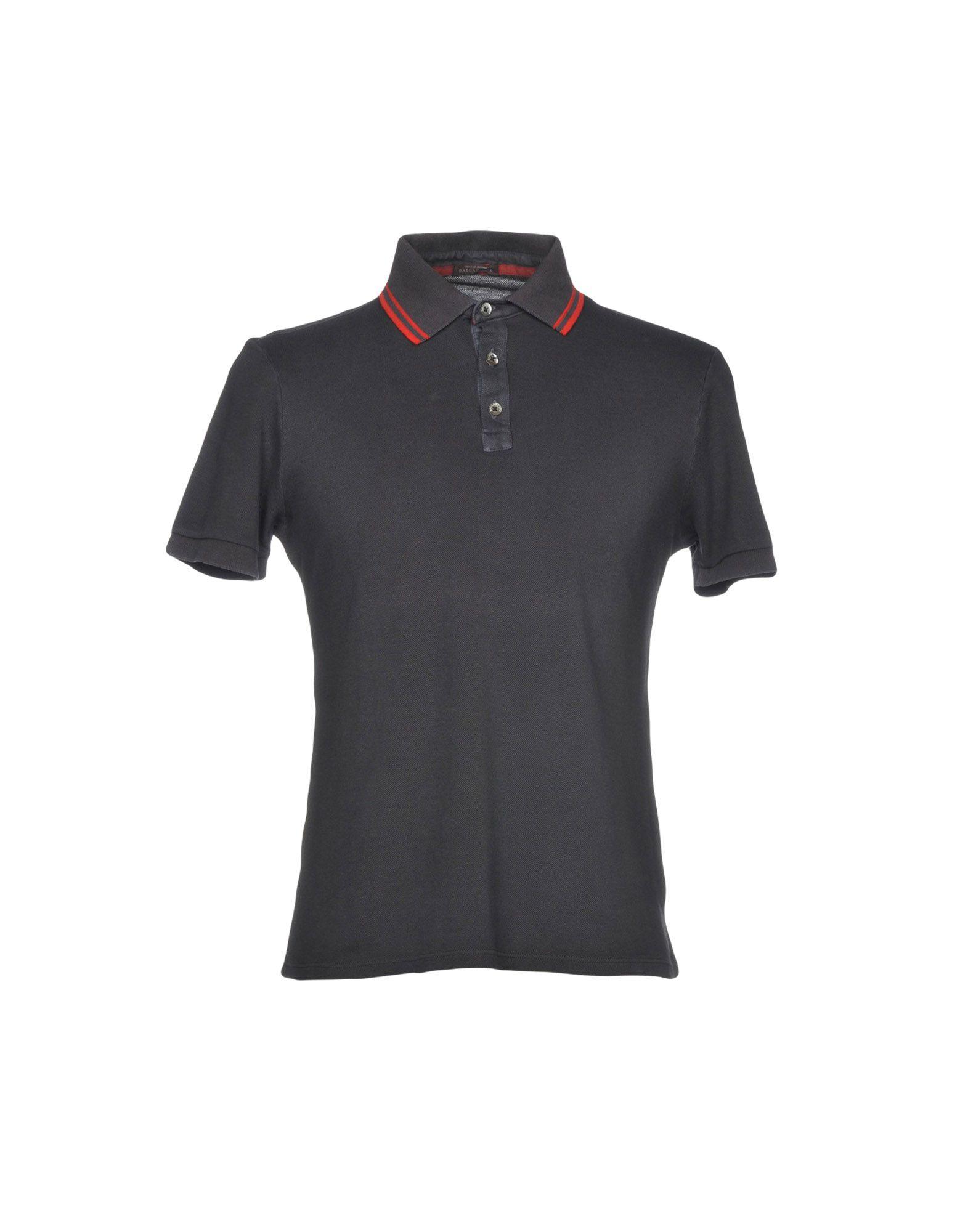 《送料無料》BALLANTYNE メンズ ポロシャツ ダークパープル M コットン 100%