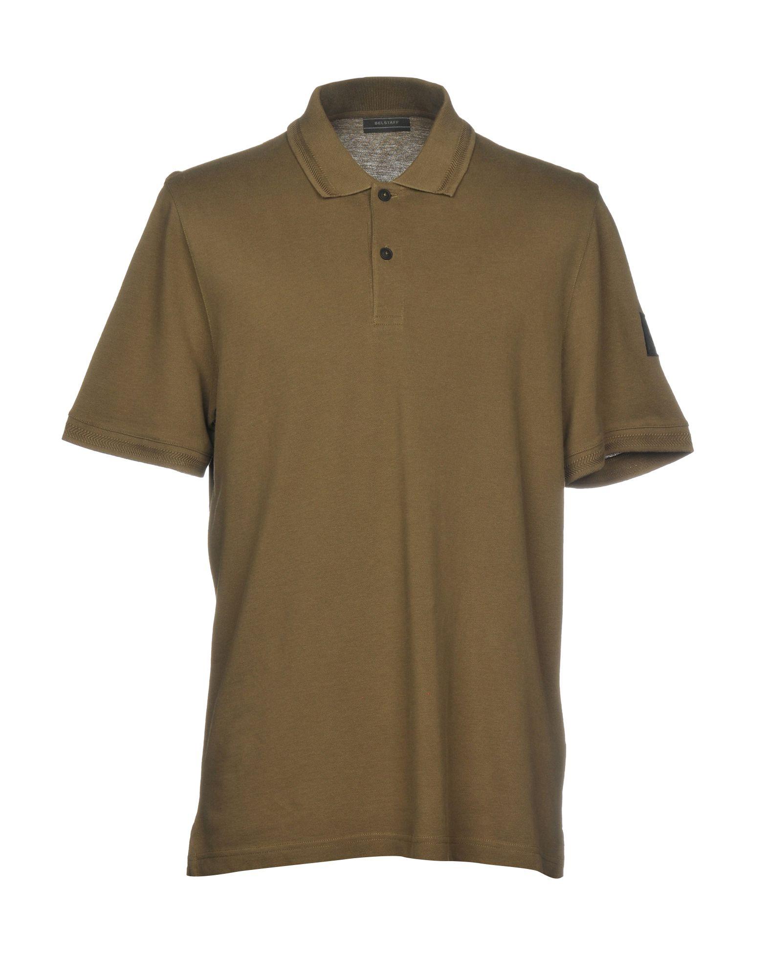《セール開催中》BELSTAFF メンズ ポロシャツ ミリタリーグリーン S 100% コットン
