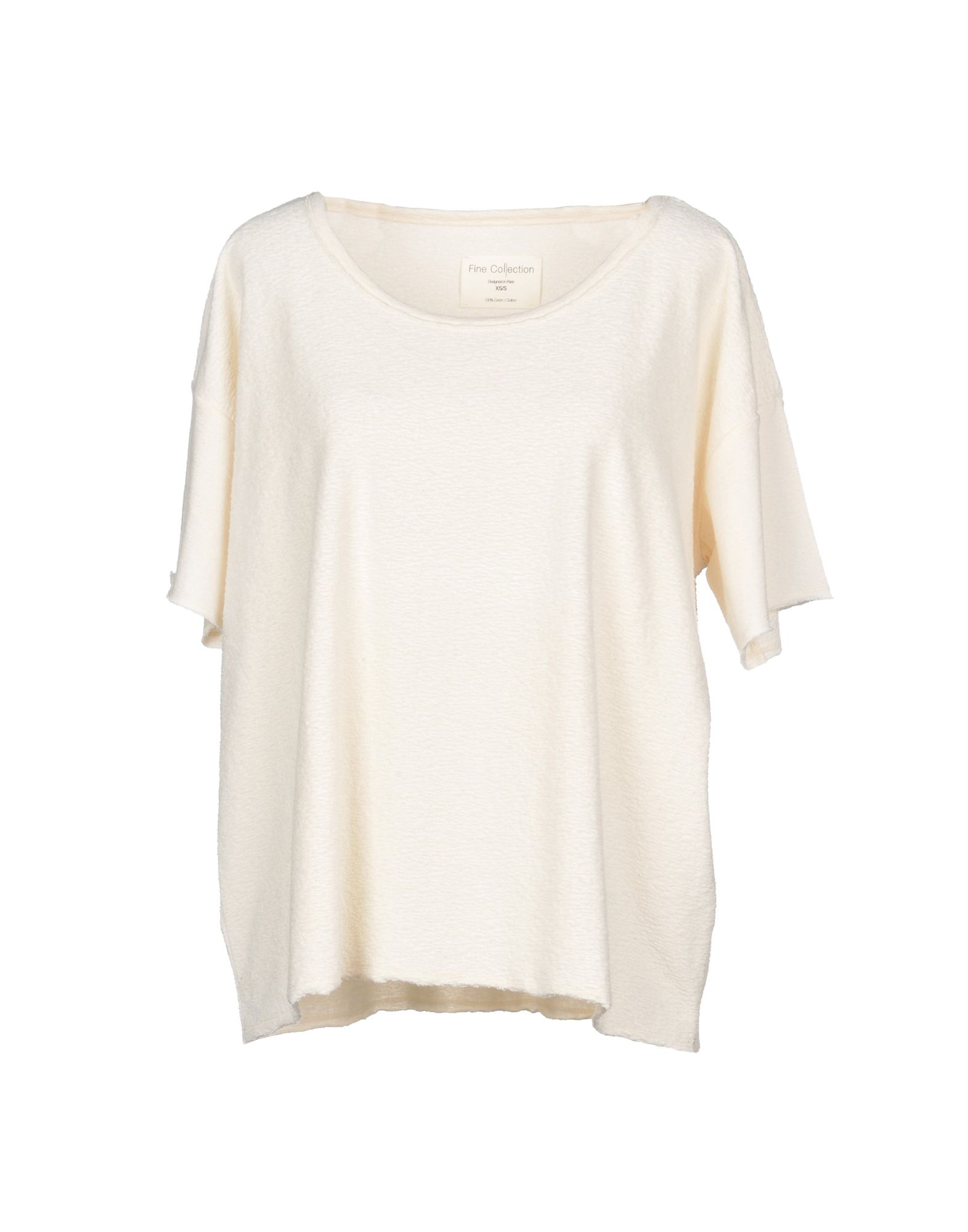 FINE COLLECTION T-Shirt in Ivory