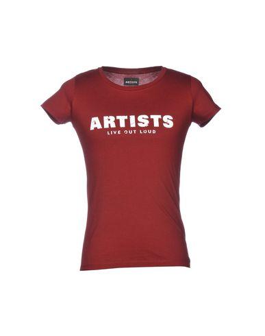 Фото - Женскую футболку ARTISTS кирпично-красного цвета