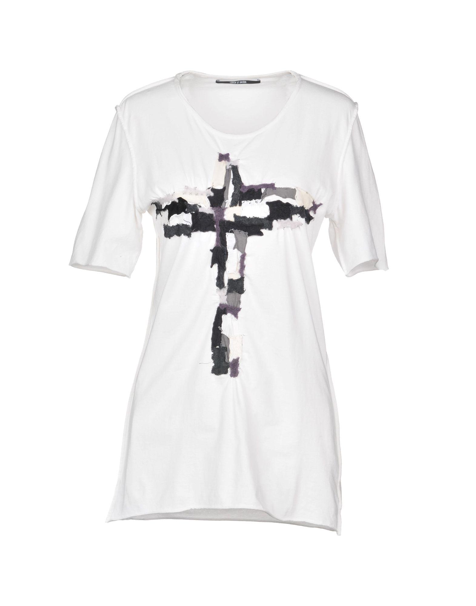 《送料無料》LUMEN ET UMBRA レディース T シャツ ホワイト 44 コットン 100%