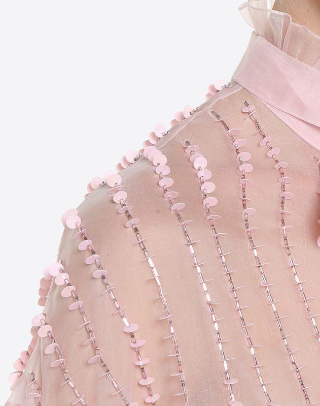 刺绣欧根纱衬衫