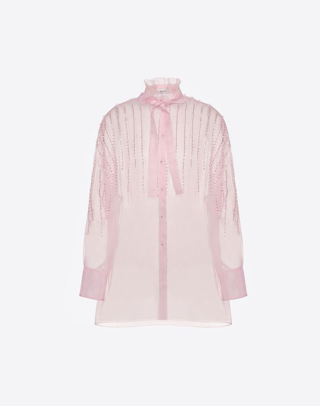 Embroidered Organza Shirt