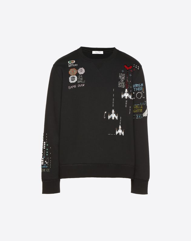 Videogames Arcade embellished crew-neck sweatshirt