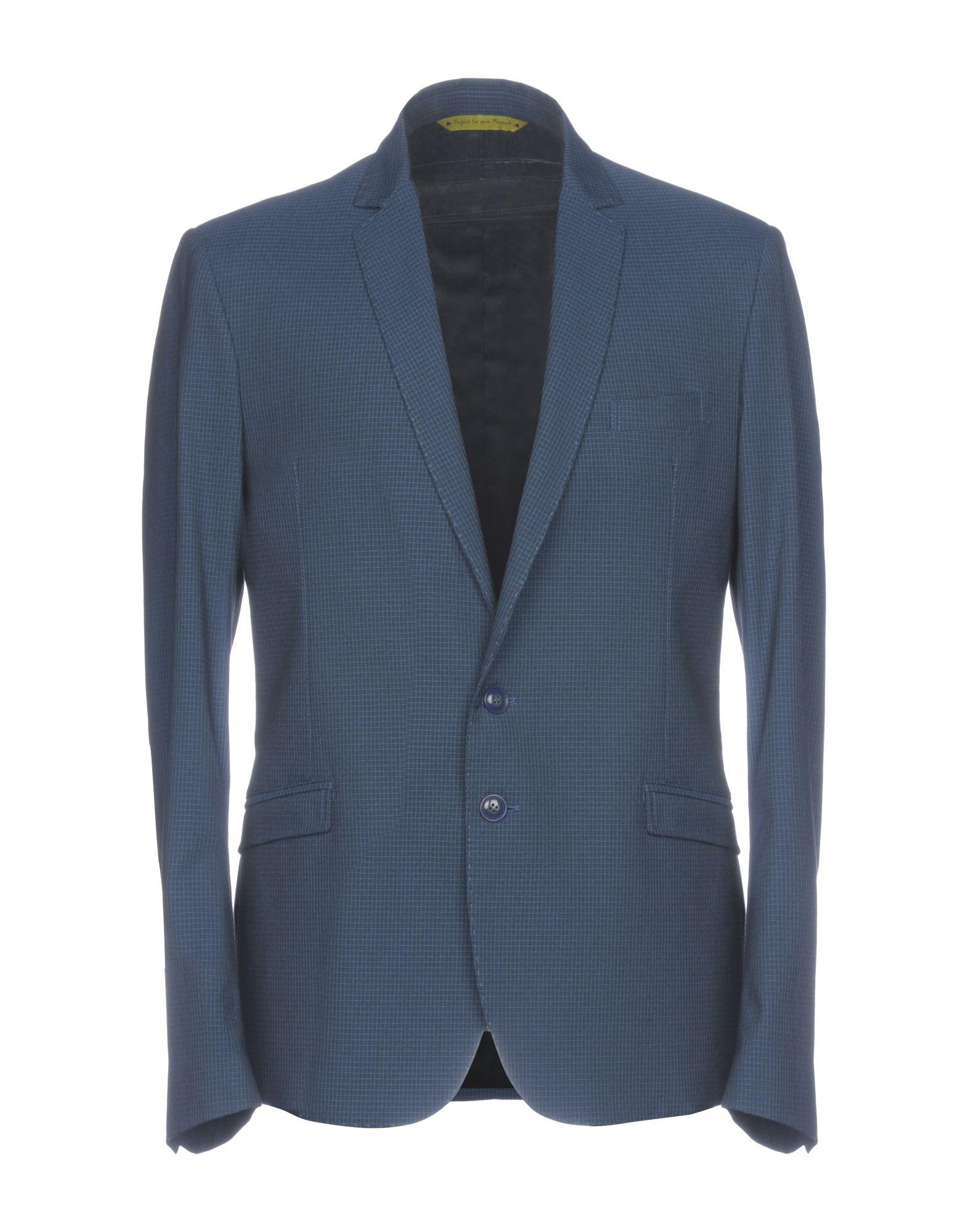 《セール開催中》PHIL GREY メンズ テーラードジャケット ダークブルー 54 コットン 67% / ポリエステル 28% / ポリウレタン 5%