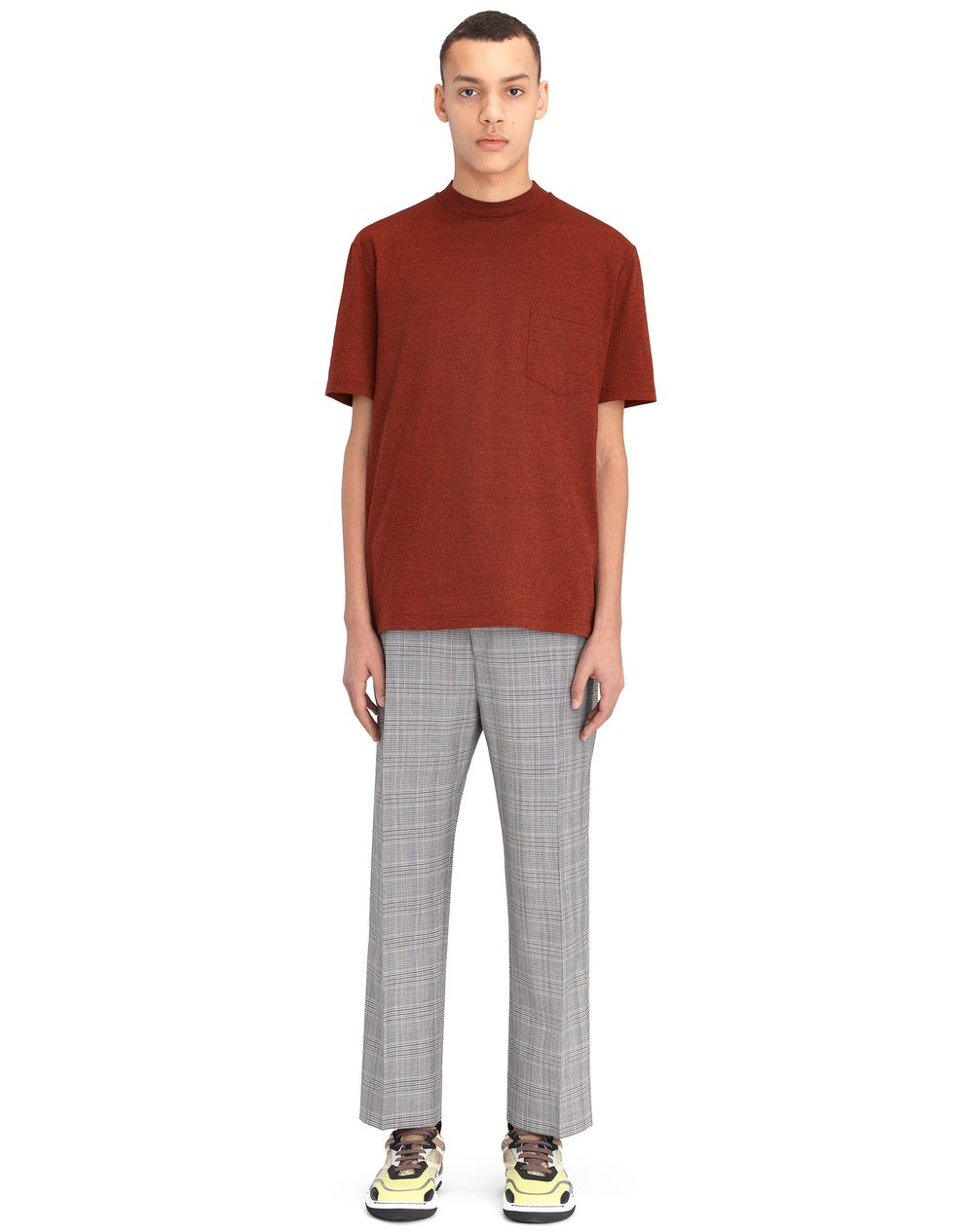 RED FLECKED JERSEY T-SHIRT - Lanvin