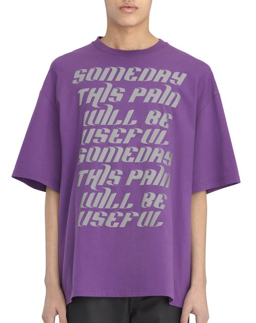 T-SHIRT VIOLET « TEXT » - Lanvin