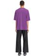 "LANVIN Polos & T-Shirts Man PURPLE ""TEXT"" T-SHIRT f"