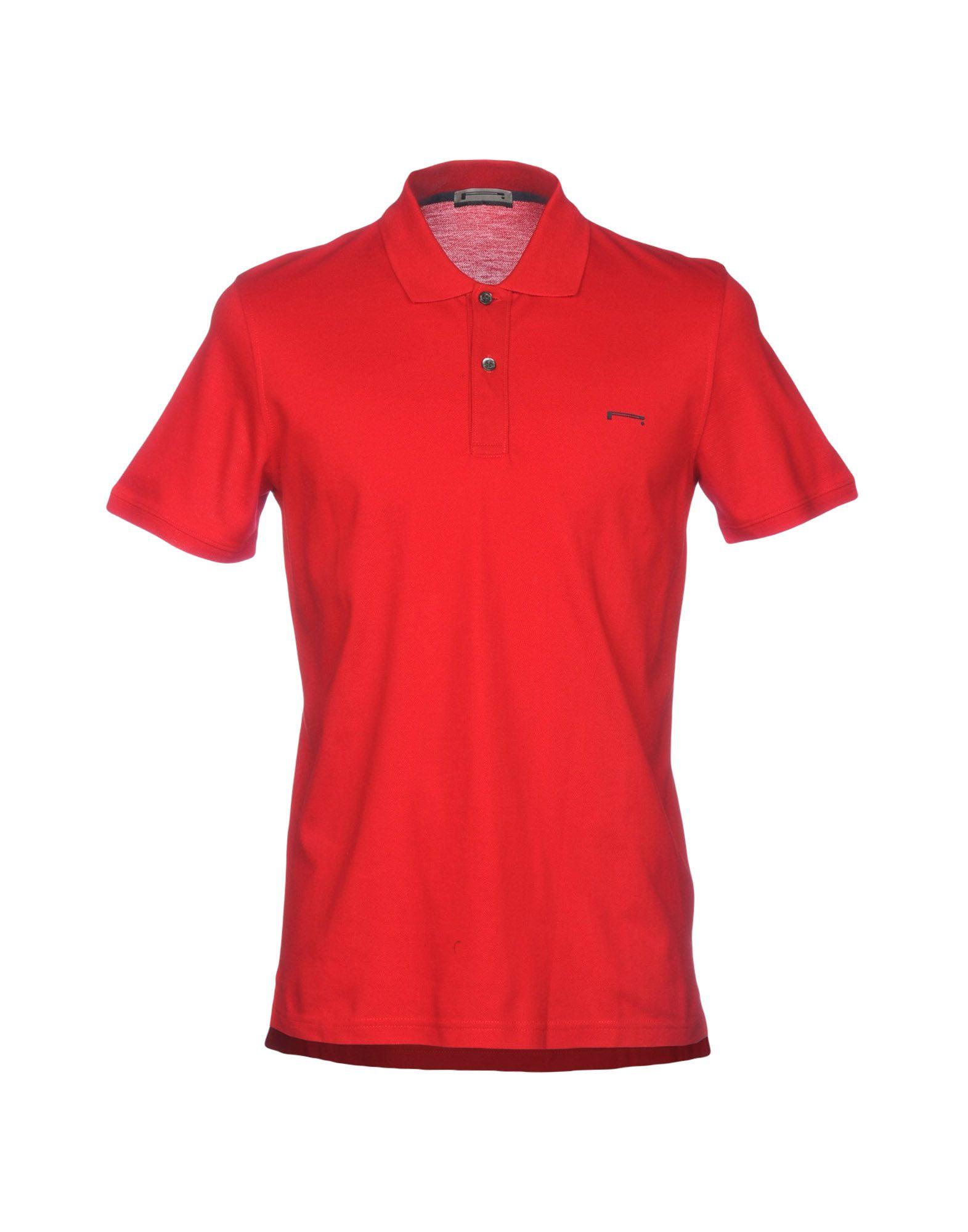 《送料無料》PIRELLI PZERO メンズ ポロシャツ レッド S コットン 100%
