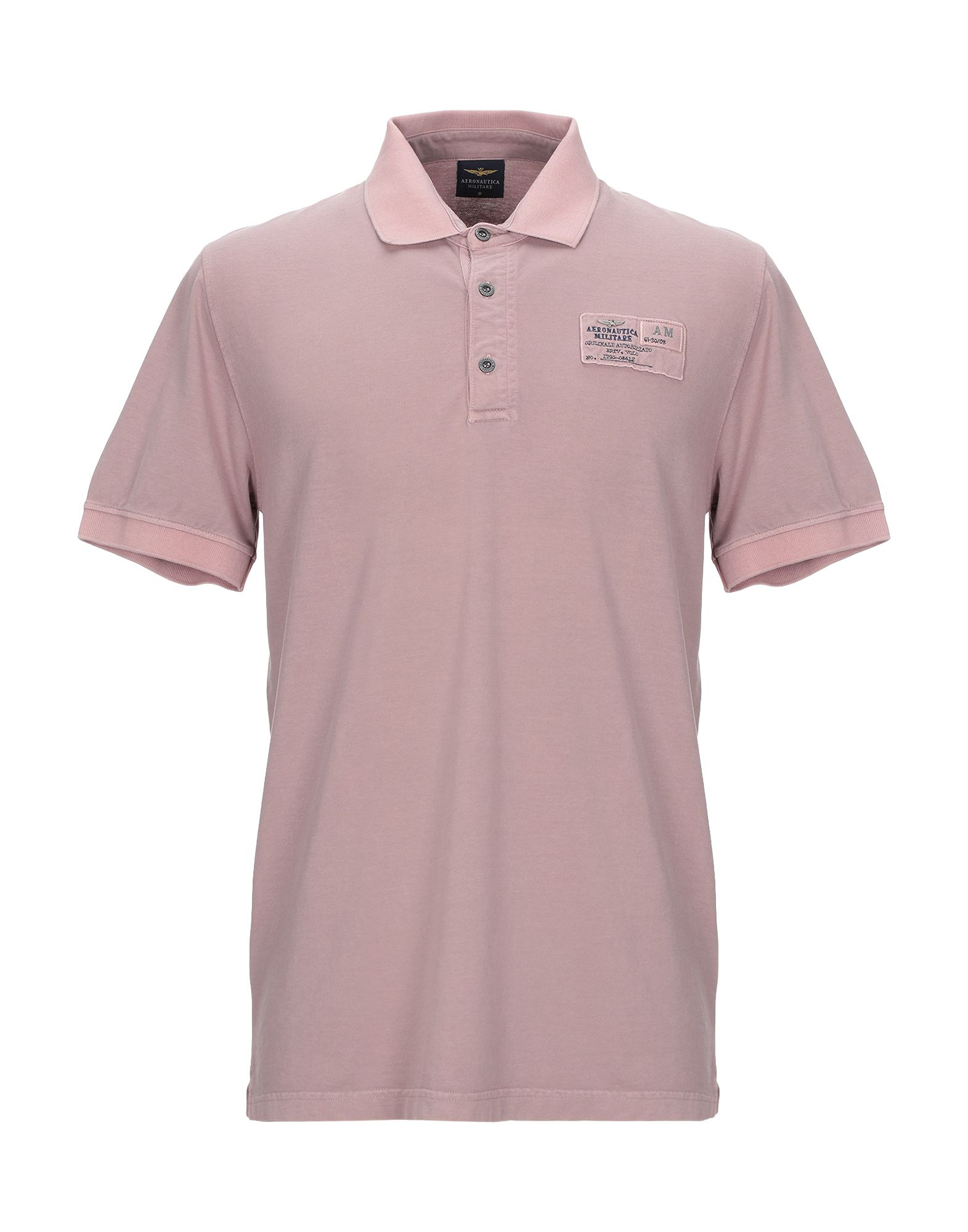 《期間限定セール開催中!》AERONAUTICA MILITARE メンズ ポロシャツ ライトブラウン L コットン 92% / ポリウレタン 8%