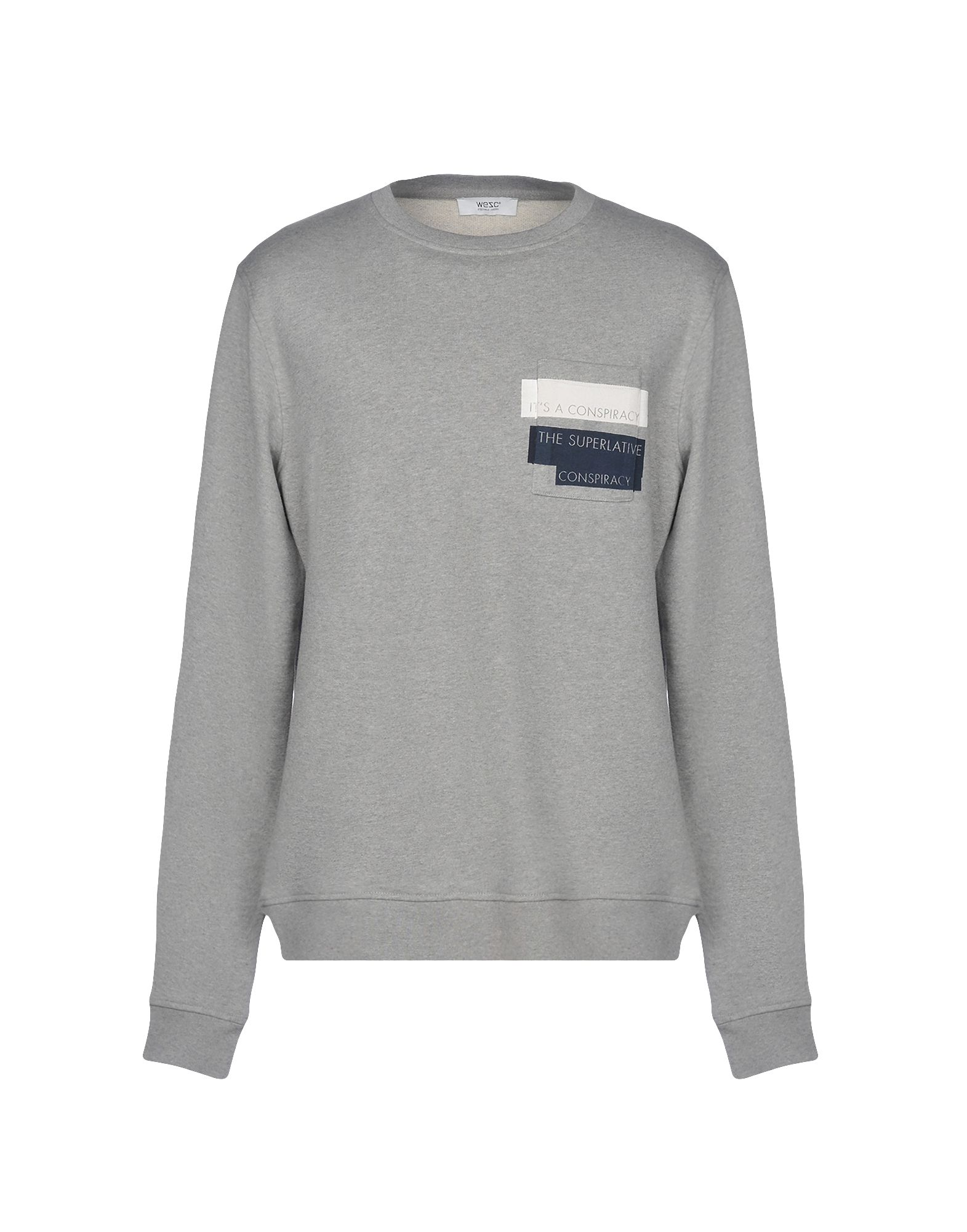 《2万円以上オーダーで送料無料》WESC メンズ スウェットシャツ グレー L コットン 100%