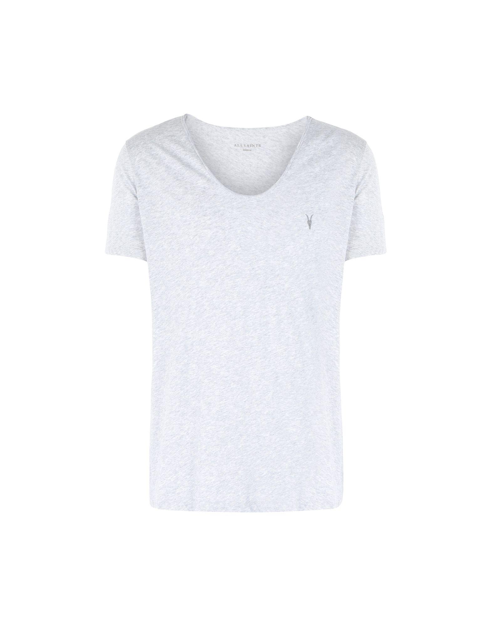 《セール開催中》ALLSAINTS メンズ T シャツ ライトグレー S コットン 100% TONIC SCOOP